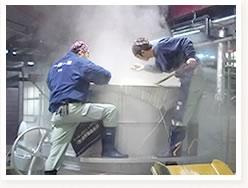 洗米及び蒸米2