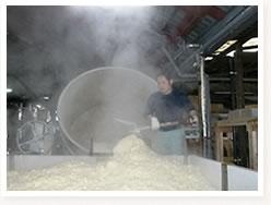 洗米及び蒸米3