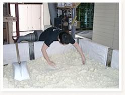 洗米及び蒸米4
